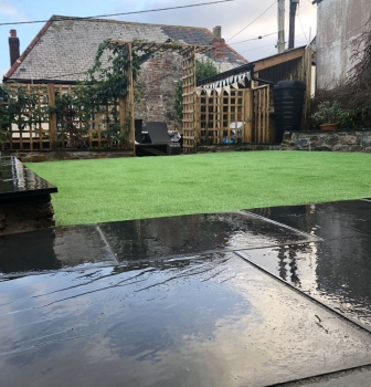 NamGrass/patio Install – Lostwithiel